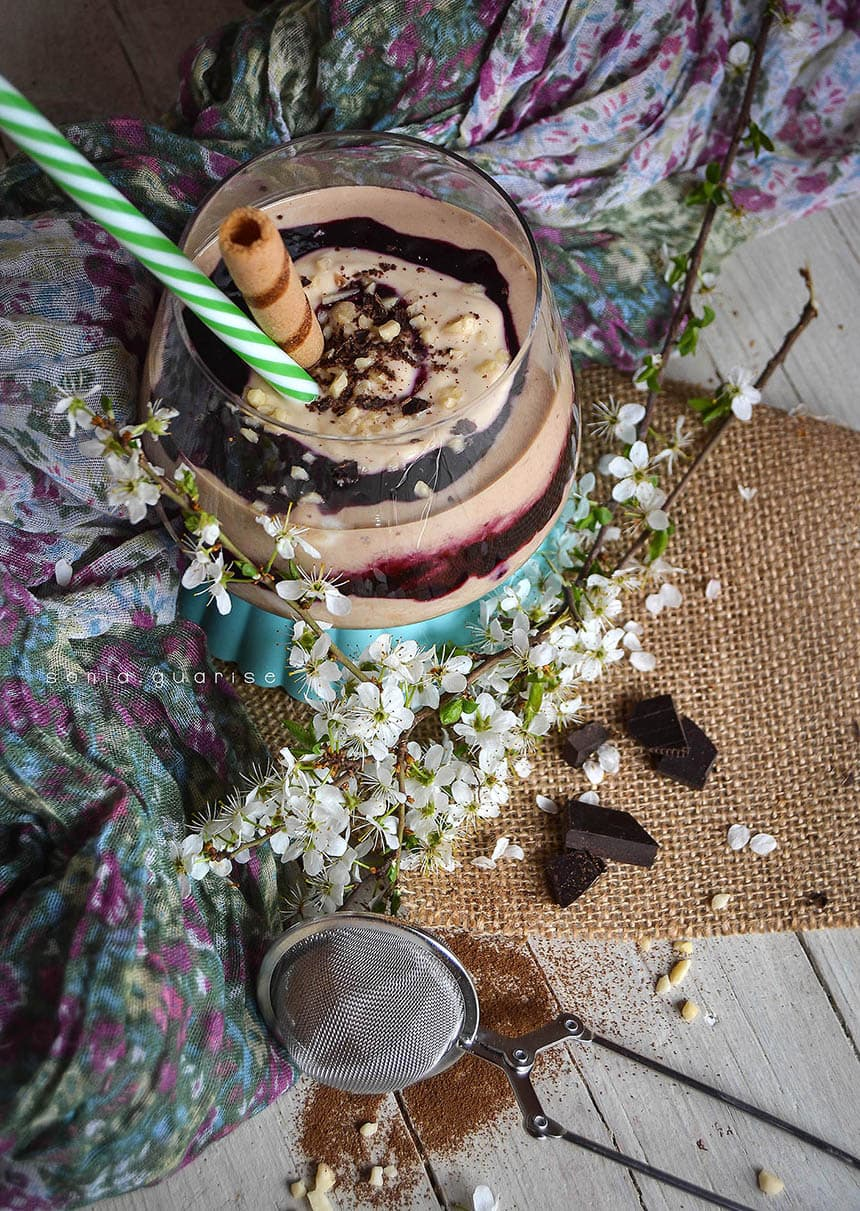 blueberries coffe jar