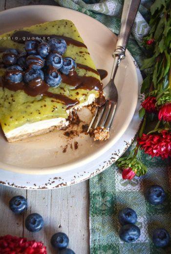 Green Cheesecake al Kiwi