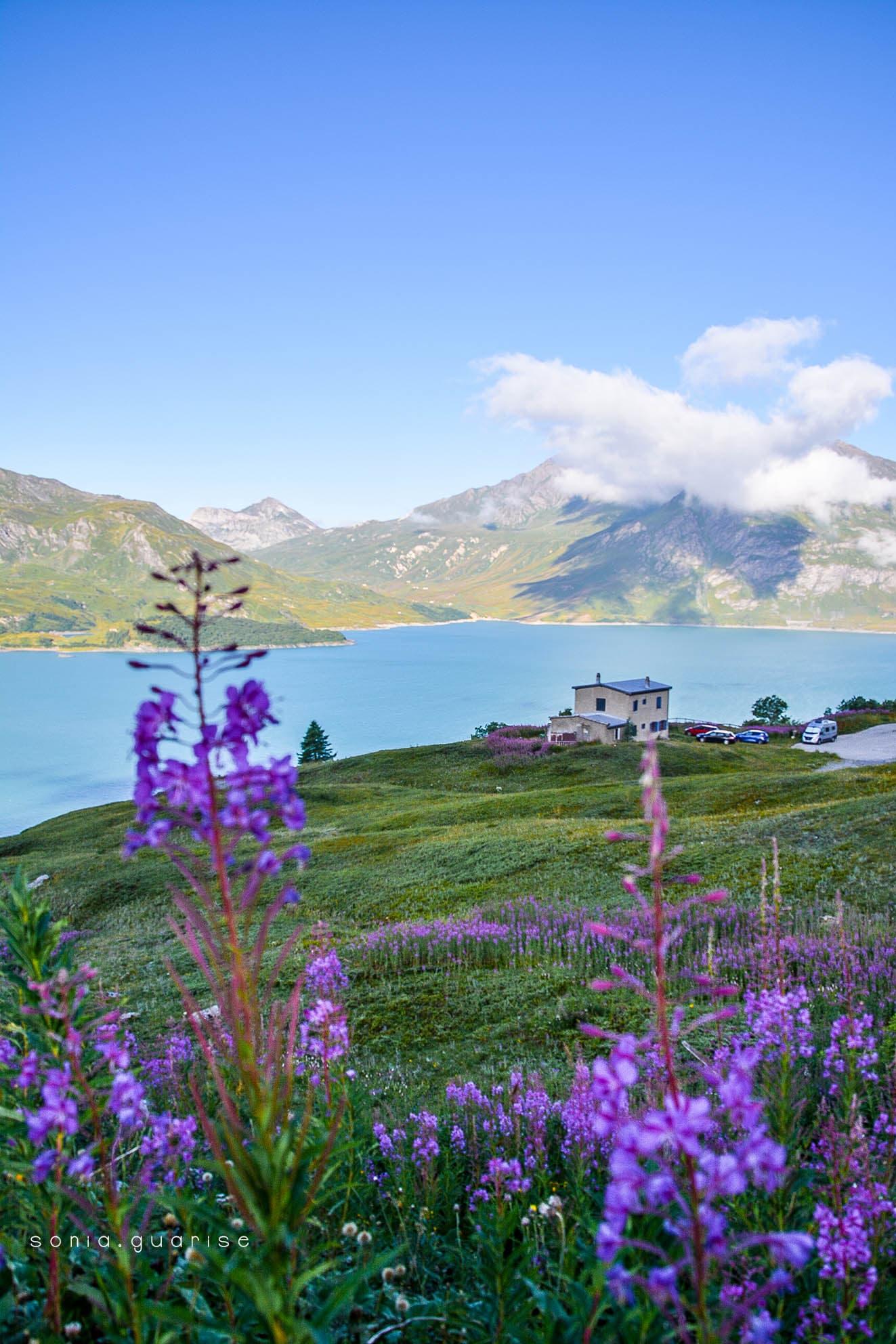 vista dall'alto lago moint cennis