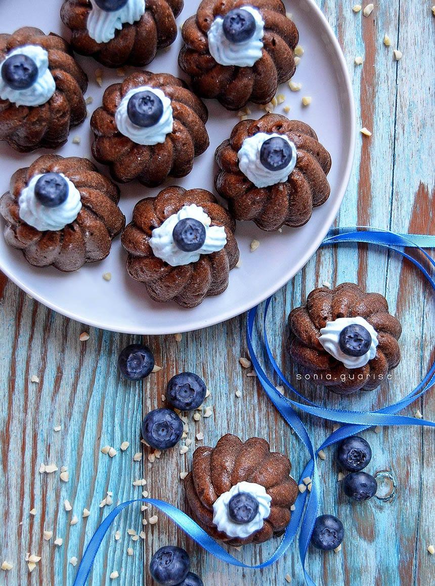 blue muffins