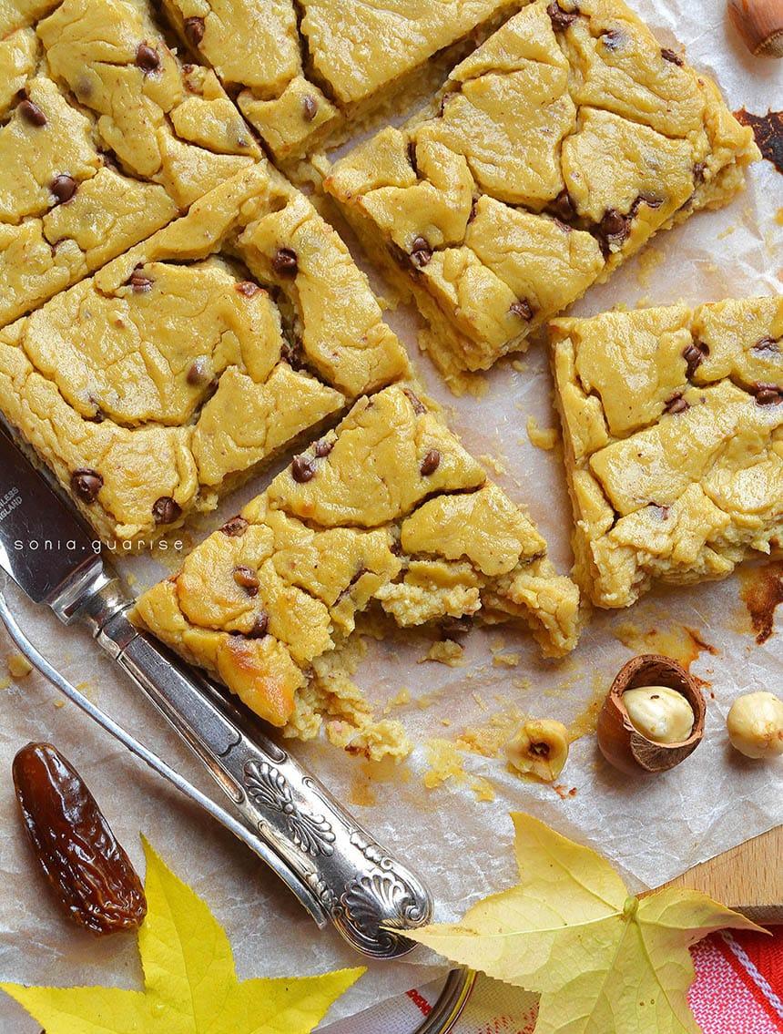 Brownies pera e cannellini bianchi