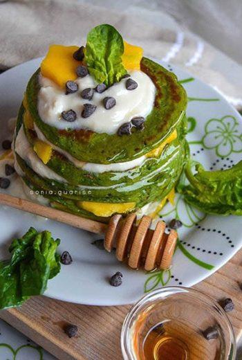 Fit-pancakes spinaci mango