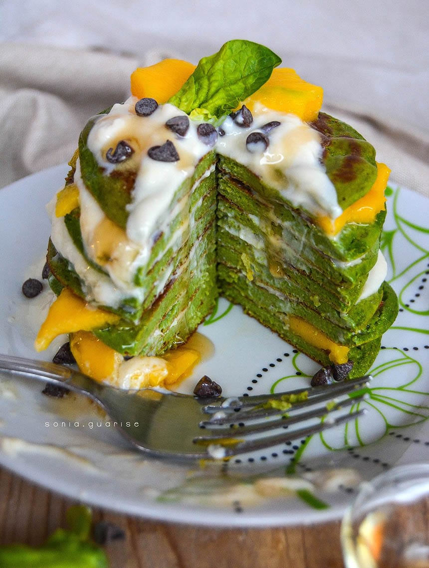 fit-pancake spinaci e mango
