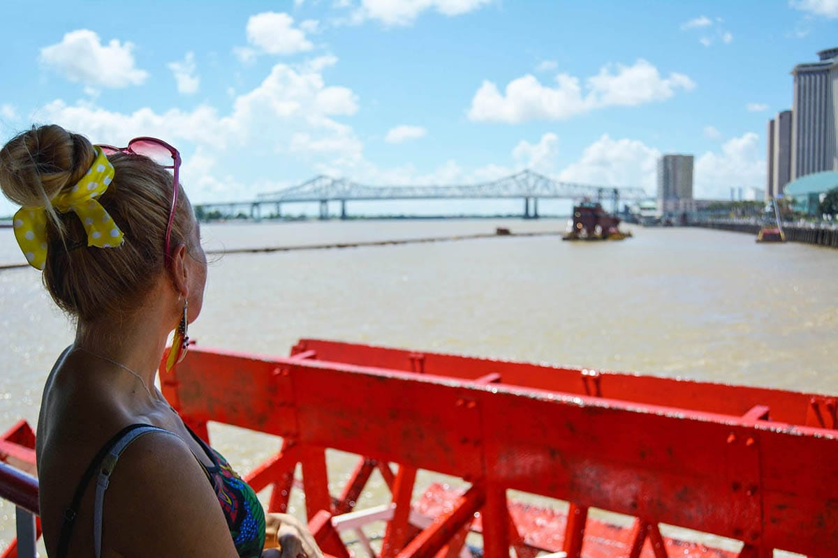 vista dal fiume, new orleans