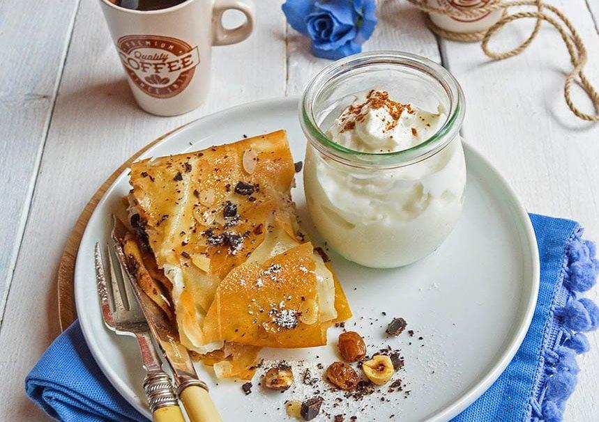 Strudel pasta filo cacao mela e zucca