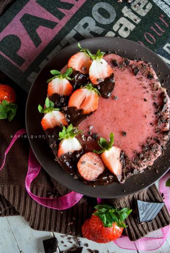 Tortina fragole e cioccolato