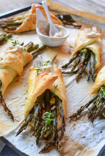 Involtini di pasta sfoglia light e asparagi