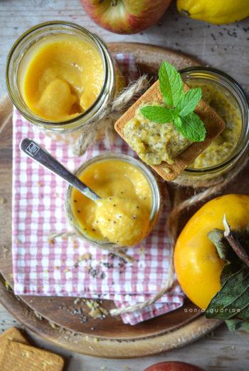 Marmellata di cachi e mela al profumo di limone