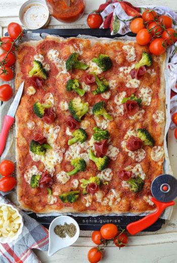 Pizza semi integrale di Farro con li.co.li.