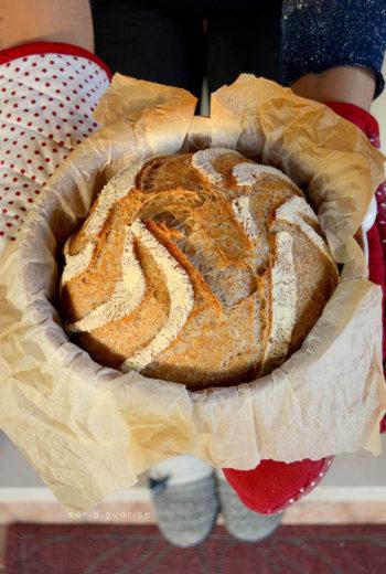 Pane integrale in cocotte con esubero di licoli