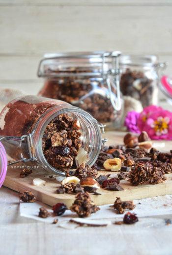 Granola al cacao e cocco homemade