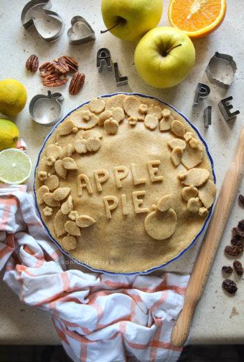 Apple Pie light con marmellata d'arancia e noci pecan