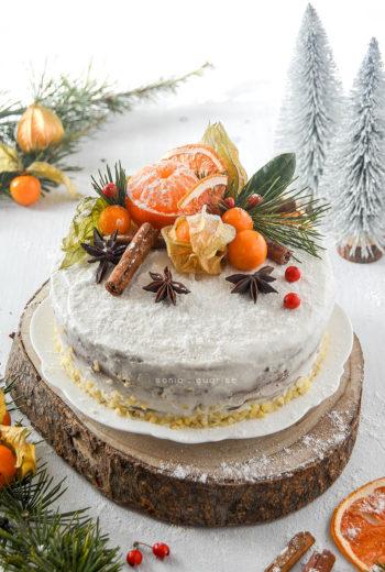 Winter Cake senza burro, olio e zucchero