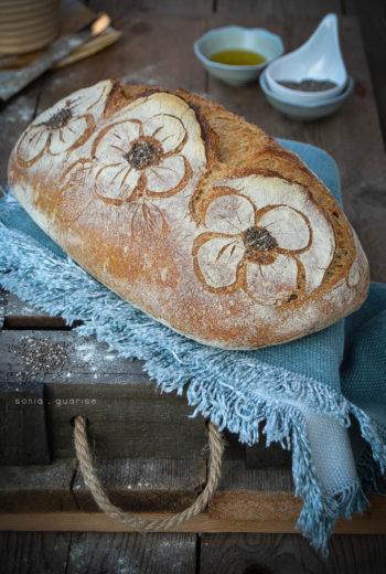 Pane fiorito semi integrale