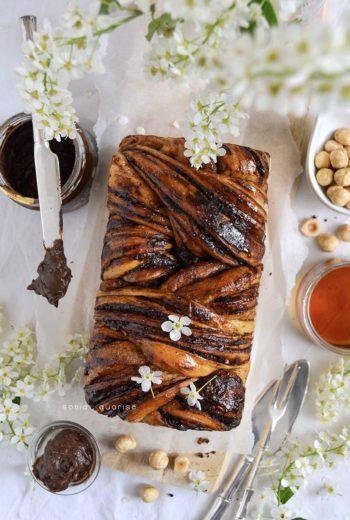 Babka vegano al cioccolato e nocciole