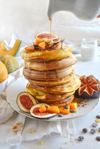Pancake alla zucca con ripieno di mele